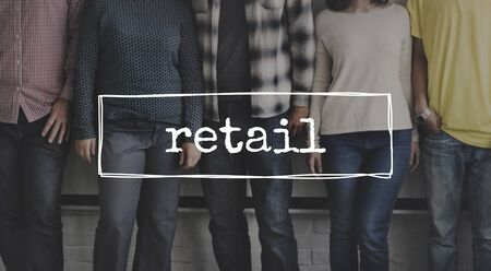 casual business team: Retail Business Sale Selling Concept Stock Photo
