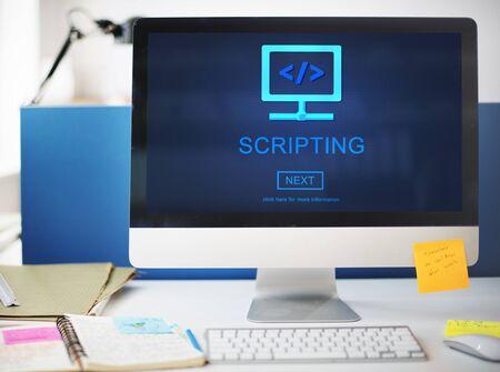 web application: Scripting HTML Coding Development Internet Concept