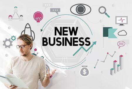 Lanzamiento de nuevo negocio en marcha Vision Concept