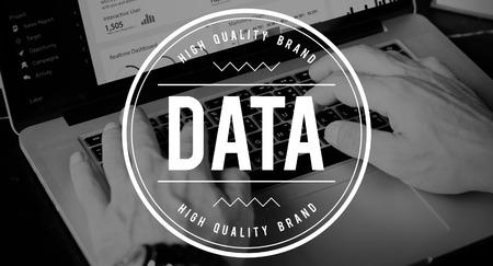 Data label concept Stok Fotoğraf
