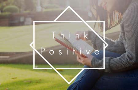Think Positive Attitude Happiness Optimistic Concept