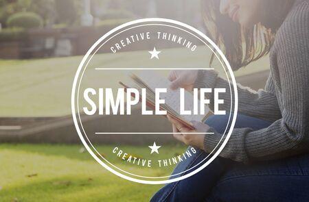 ciclo de vida: La vida simplemente disfrutar de balance del ciclo de vida de simplicidad concepto Relax