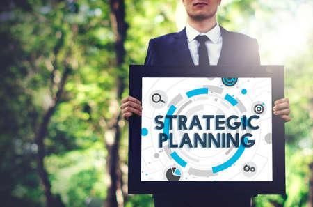 planificacion estrategica: Concepto Acción Plan de Proceso de Planificación Estratégica Foto de archivo
