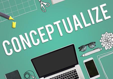 Conceptualize concept Stock Photo