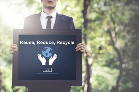 environmental awareness: Reuse Reduce Recycle Sustainability Ecology Concept
