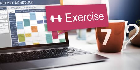 building planners: Exercise Activity Appointment Lifestyle Cardio Concept