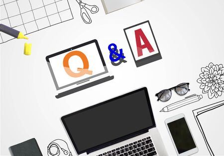 reply: Q & A Information Help Response Reply Explanation Concept Stock Photo