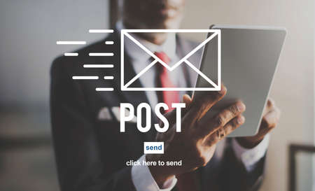 correspondencia: Post Mail Correspondence Online Message Communication Concept
