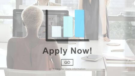 place of employment: Apply Now Application Employment Work Concept Stock Photo