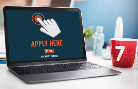 place of employment: Apply Here Apply Online Job Concept