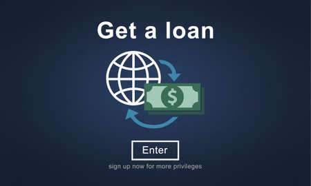 borrowing money: Loan Borrowing Budget Capital Credit Accounting Concept