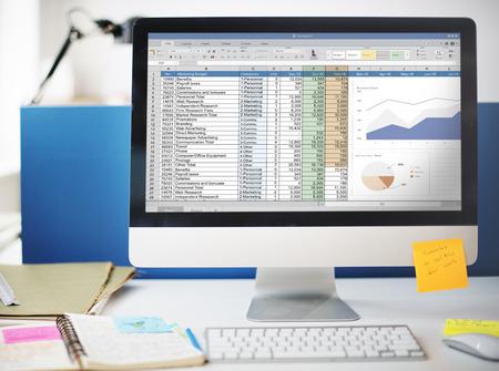 Hoja de cálculo Marketing Indicar Concepto Presupuesto Archivo