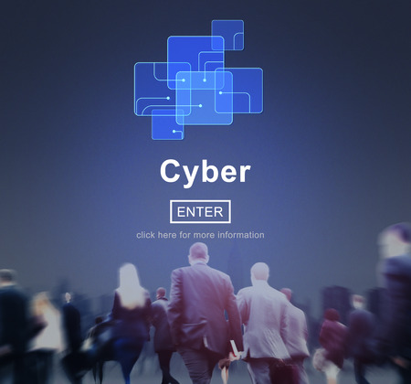 globalization: Cyber Cyberspace Connection Globalization Technology Concept Stock Photo