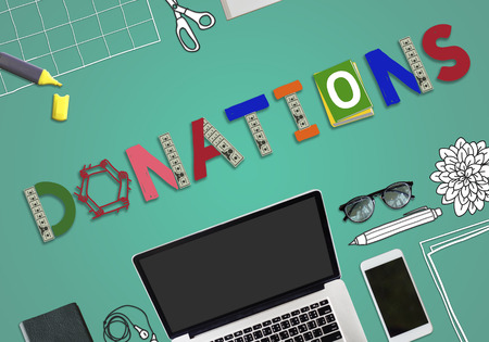 contribute: Donate Give Charity Help Contribute Concept