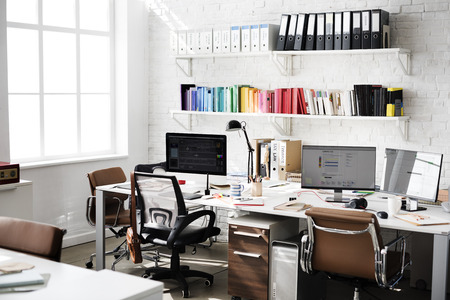Contemporary Room Workplace Office Supplies Concept 免版税图像