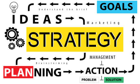 objectives: Strategy Ideas Planning Action Goals Concept Stock Photo