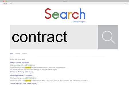 Online search for contract