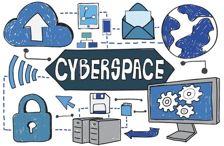 cyberspace: Cyberspace Connection Social Media Networking Technology Concept
