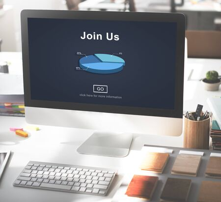 Join us Headhunting Company Hiring Concept Фото со стока