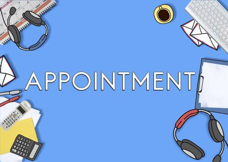 assigning: Appointment Agenda Meeting Arrangement Concept Stock Photo