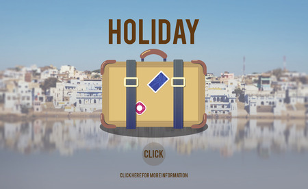 lake district: Holiday Travel Trip Journey Bag Symbol Concept