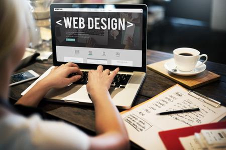 Web Design Site Web Page d'accueil Idées de programmation Concept Banque d'images