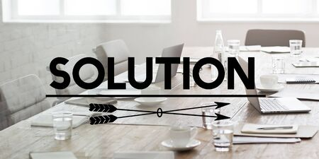 solving: Solution Problem Solve Result Progress Concept Stock Photo