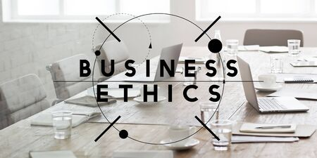 insider trading: Business Ethics Integrity Moral Policies Concept
