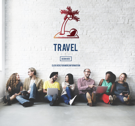 destination: Travel Traveler Exploration Destination Concept Stock Photo