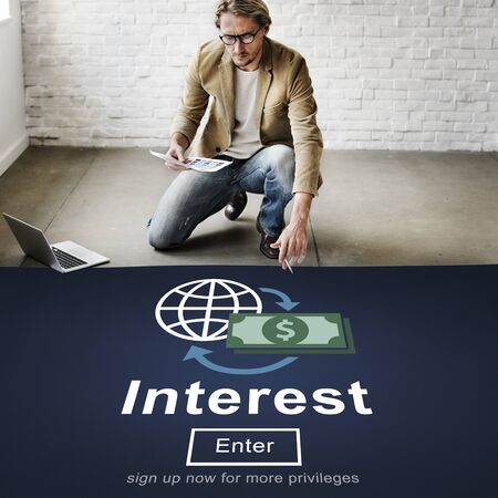 interest: Interest Banking Rate Financial Concept