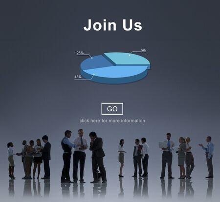 headhunting: Join us Headhunting Company Hiring Concept Stock Photo