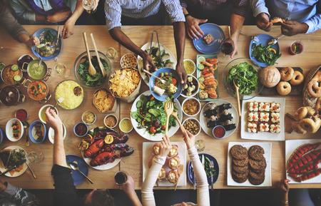 Brunch Choice Foule Dining Options de restauration Manger Concept Banque d'images