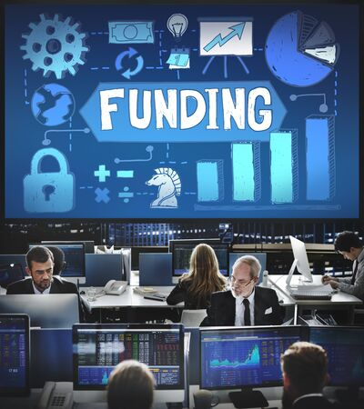 financial occupation: Funding Fundrising Invest Donate Budget Concept