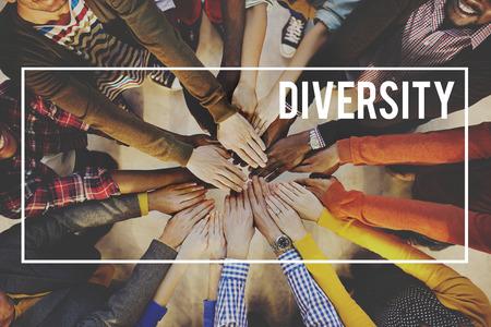 Vielfalt Gesellschaft Vielfalt Rennen Gemeinschaftskonzept Standard-Bild