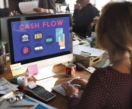 Credit Score Cash Flow Finance Concept