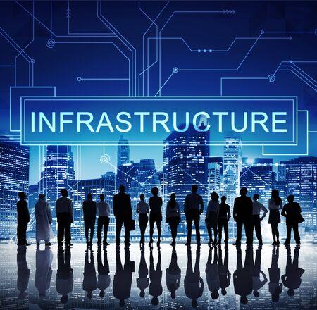 Infrastrutture Concetto Tecnologia Circuit Board Informazioni Framework