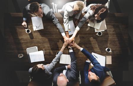 Personne humaine Réunion d'affaires Connexion d'entreprise Ensemble Concept