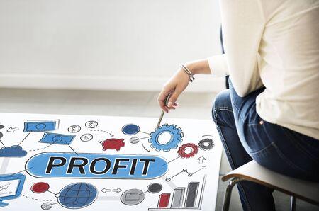 fund world: Profit Income Savings Banking Money Concept Stock Photo