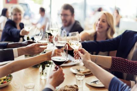 Бизнес Люди партии Празднование успеха Концепция