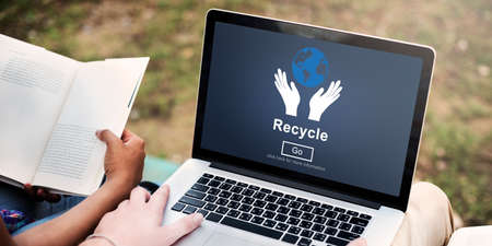 ecosystem: Recycle Reuse Reduce Ecosystem Environment Concept