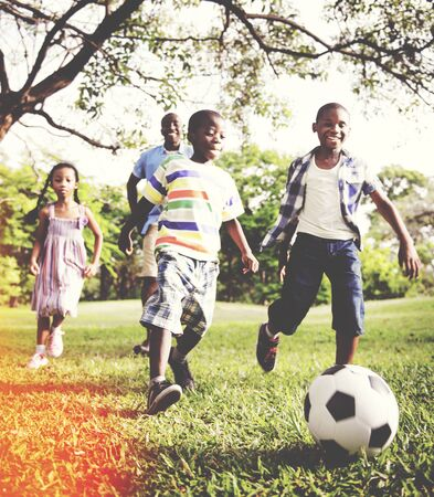 african descent: African Family Happiness Holiday Vacation Activity Concept