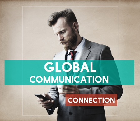 coffee breaks: Businessman Technology Connection Communication Concept