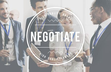 deliberations: Negotiate Collaboration Business Agreement Deal Concept