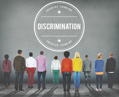 unjust: Discrimination Distinction Unfair Unjust Bias Racial Concept