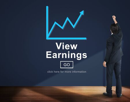 earnings: View Earnings Cash Economy Finance Income Concept Stock Photo