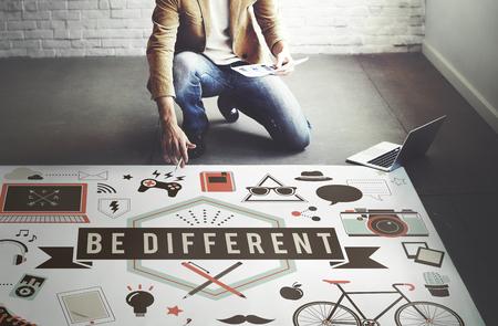 Essere Diverse idee di effetto significativo Concetto Cambiamento Differenza