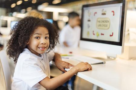 Studenten leren Biology E-learning Concept Stockfoto