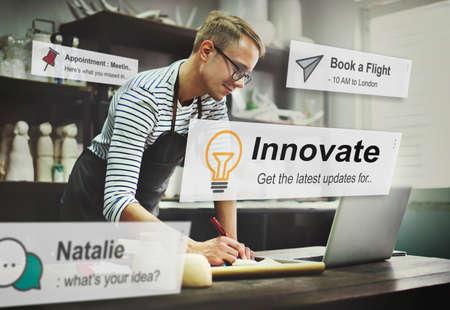 Innovate Innovation Technology Development Aspiration Concept Stock Photo