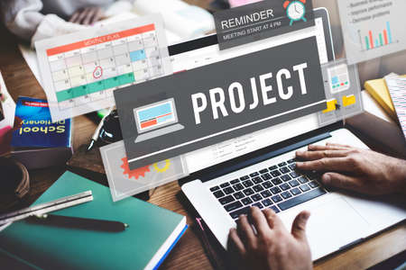 predict: Project Operation Plan Predict Management Task Concept Stock Photo