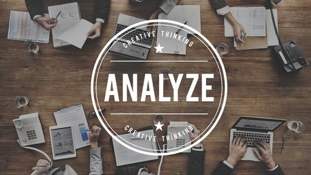 reseach: Analyze Plan Process Strategize Statistics Concept Stock Photo